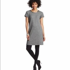 Loft Gray Heather Dress w/ Beaded Neckline - S